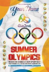 Summer Olympics PSD Flyer Template