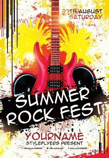 Summer Rock Fest PSD Flyer Template