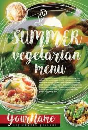Summer Vegeterian Menu PSD Flyer Template