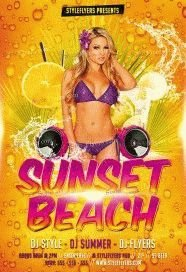 Sunset Beach PSD Flyer Template