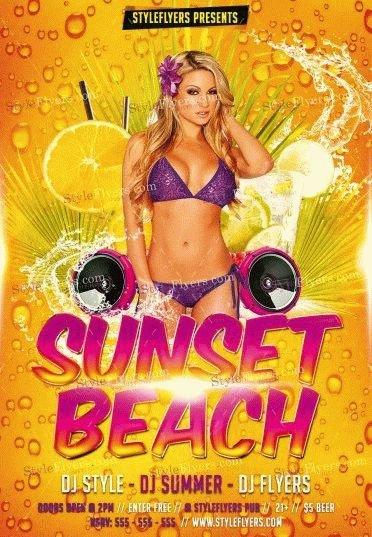 Sunset Beach PSD Flyer Template