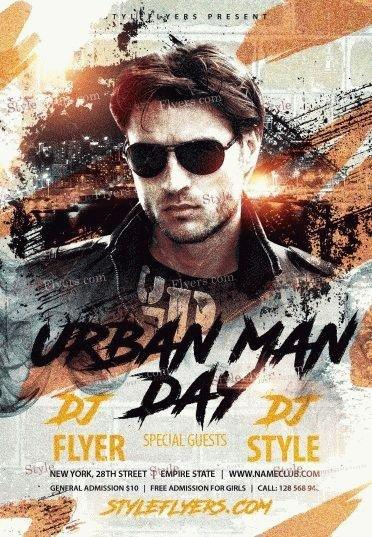 Urban-Man-Day-PSD-Flyer-Template