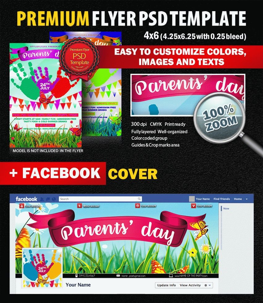 Parents day psd flyer template 9387 styleflyers for Parent flyer templates