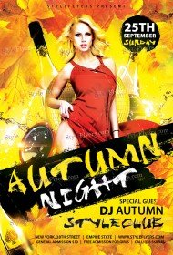 Autumn Night PSD Flyer Template