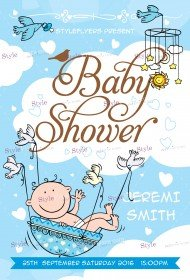 Free Baby Shower Flyer PSD Templates Download - Styleflyers