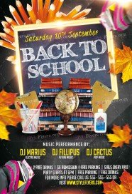 Back To School PSD Flyer Template