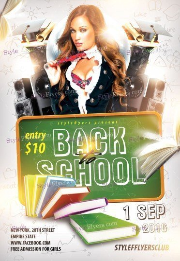 Back To School PSD Flyer Template 10650 Styleflyers
