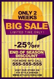 Big Sale PSD Flyer Template