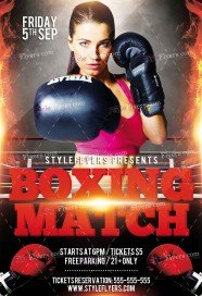Boxing Match PSD Flyer Template