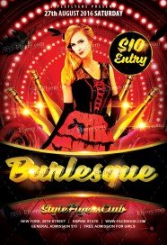 Burlesque PSD Flyer Template