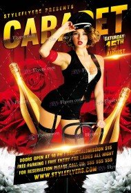 Cabaret PSD Flyer Template