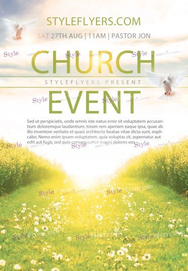 free flyer templates for church events - church event psd flyer template 10705 styleflyers