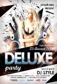 Deluxe Party PSD Flyer Template