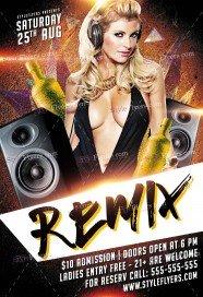 Dj Party Remix PSD Flyer Template