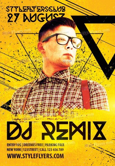 Dj Remix PSD Flyer Template