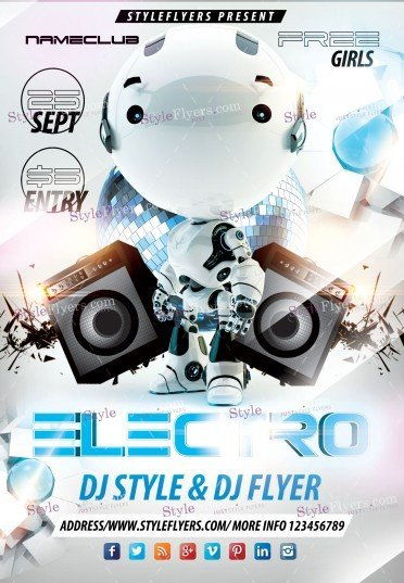 Electro  PSD Flyer Template
