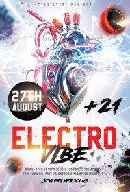 Electro Vibe PSD Flyer Template