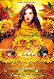 Fall Festival  PSD Flyer Template