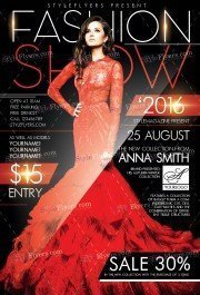 Fashion Show PSD Flyer Template