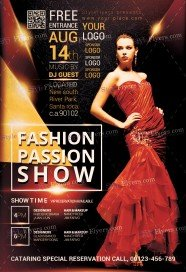 fashion show flyer template psd images galleries with a bite. Black Bedroom Furniture Sets. Home Design Ideas