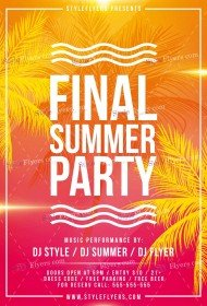 Final Summer PSD Flyer Template