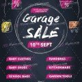 Garage Sale Free PSD Flyer Template