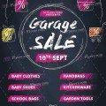 Garage Sale Free PSD Flyer Template
