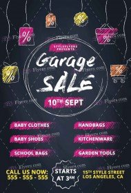free garage sales flyer psd templates download styleflyers
