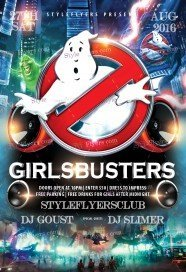 Girlsbusters PSD Flyer Template