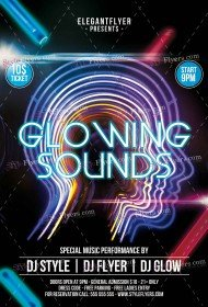 Glowing Sounds  PSD Flyer Template