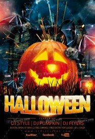 Halloween PSD Flyer Template