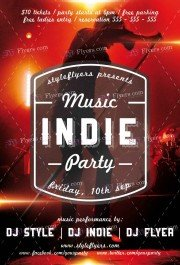 Indie Music Party PSD Flyer Template