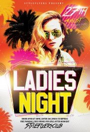 Ladies Nights  PSD Flyer Template