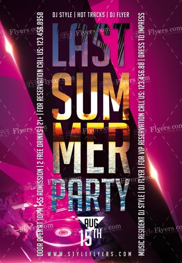 Last Summer PSD Flyer Template