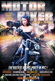 Motor Biker PSD Flyer Template