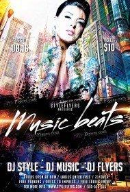 Music Beats  PSD Flyer Template
