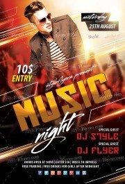 Music Night PSD Flyer Template