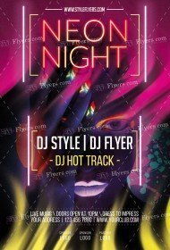 Neon PSD Flyer Template