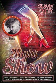 Night Show PSD Flyer Template