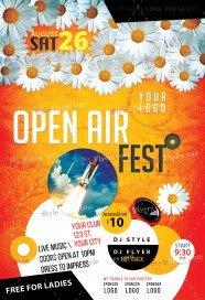 Openair Fest PSD Flyer Template