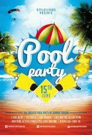 Pool Party PSD Flyer Template