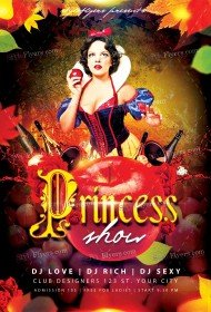 Princess Show PSD Flyer Template