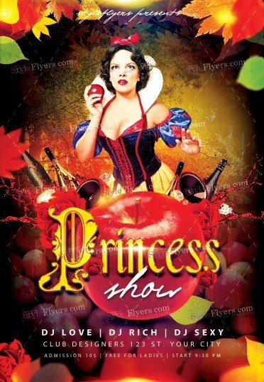Princess Show PSD Flyer Template