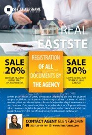 Real Eastste PSD Flyer Template