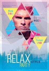 Relax PSD Flyer Template