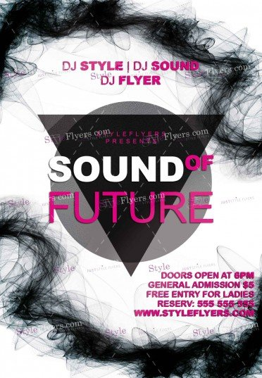 Sound Of Future PSD Flyer Template