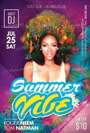 Summer Vibe PSD Flyer Template