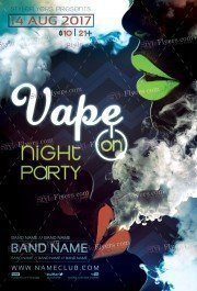 Vape On PSD Flyer Template