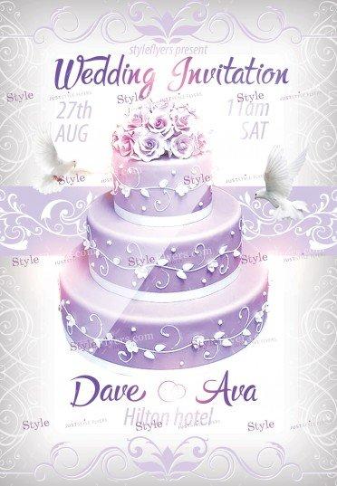 Wedding Invitatin PSD Flyer Template