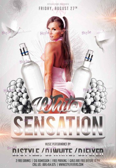 White Sensation  PSD Flyer Template